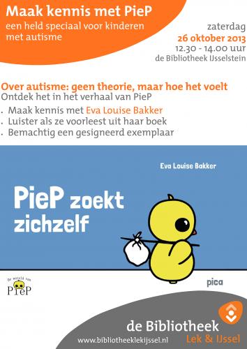 Bieb IJsselstein Affiche Boekpresentatie Piep 26-10-2013